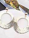 Γυναικεία Κοίλο Κρεμαστά Σκουλαρίκια Σκουλαρίκια κυρίες Απλός Ευρωπαϊκό Μοντέρνα Κοσμήματα Χρυσό / Ασημί Για Πάρτι Causal 1 Pair