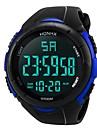 Pánské Sportovní hodinky Digitální hodinky japonština Digitální Silikon Černá 30 m Voděodolné Alarm Kalendář Digitální Módní - Černá Černá / Modrá / Chronograf / Stopky / Svítící