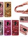 Huelle Fuer Samsung Galaxy S9 Plus / S8 Plus Stossresistent / Mit Fluessigkeit befuellt / Transparent Rueckseite 3D Zeichentrick / Glaenzender Schein Weich TPU fuer S9 / S9 Plus / S8 Plus