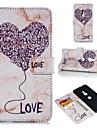 غطاء من أجل Sony زبيريا شز / Xperia XA1 محفظة / حامل البطاقات / قلب غطاء كامل للجسم قلب / حجر كريم ناعم جلد PU إلى Xperia XZ2 / Sony Xperia XZ3 / Sony Xperia XZ1
