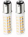 2pcs 4.5 W 450 lm BA15D LED-maislampen T 76 LED-kralen SMD 2835 Dimbaar Warm wit / Koel wit 220 V