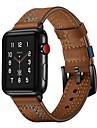 시계 밴드 용 Huami Amazfit Bip Younth Watch / Apple Watch Series 4/3/2/1 Apple 스포츠 밴드 / 클래식 버클 천연 가죽 손목 스트랩