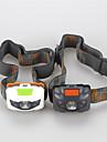 Φακοί Κεφαλιού LED Cree® XP-E R3 3 Εκτοξευτές 500 lm 4.0 τρόπος φωτισμού Τακτικός Αδιάβροχη Ανθεκτικό στα Χτυπήματα Κατασκήνωση / Πεζοπορία / Εξερεύνηση Σπηλαίων Καθημερινή Χρήση Ποδηλασία Λευκό Μαύρο