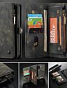 CaseMe Custodia Per Apple iPhone X / iPhone 8 / iPhone 8 Plus A portafoglio / Porta-carte di credito / Con supporto Integrale Tinta unita Resistente pelle sintetica per iPhone XS / iPhone XR / iPhone