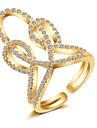 Γυναικεία Ανοίξτε τον δακτύλιο Χαλκός Μοδάτο Δαχτυλίδι Κοσμήματα Χρυσό / Ασημί / Τριανταφυλλί Για Δώρο Γαμήλια Τελετή Ρυθμιζόμενο