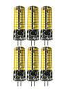 6pcs 5 W 400-500 lm G4 2-pins LED-lampen T 72 LED-kralen SMD 5730 Schattig Warm wit / Koel wit 12-24 V