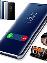 Coque Pour Samsung Galaxy Galaxy S10 / Galaxy S10 Plus Avec Support / Plaque / Miroir Coque Integrale Couleur Pleine Dur faux cuir pour S9 / S9 Plus / S8 Plus