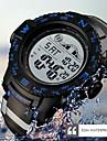 SKMEI Ανδρικά Αθλητικό Ρολόι Ψηφιακό καουτσούκ Μαύρο / Φούξια 50 m Ανθεκτικό στο Νερό Ημερολόγιο Φωτίζει Ψηφιακό Καθημερινό Μοντέρνα - Μαύρο Κόκκινο Μπλε