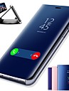 غطاء من أجل Huawei P20 / P20 Pro مع حامل / تصفيح / مرآة غطاء كامل للجسم لون سادة قاسي جلد PU إلى Huawei P20 / Huawei P20 Pro / Huawei P20 lite