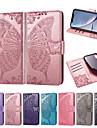 غطاء من أجل Apple iPhone XR / iPhone XS Max محفظة / حامل البطاقات / مع حامل غطاء كامل للجسم فراشة / زهور ناعم جلد PU إلى iPhone XS / iPhone XR / iPhone XS Max