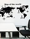 Koriste-seinätarrat - Kartta Wall Stickers Maisema Olohuone / Makuuhuone / Keittiö