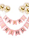 Holiday Decorations Holidays & Greeting Birthday / Pull Flag Party / Decorative Black / colour bar / Pink 1pc